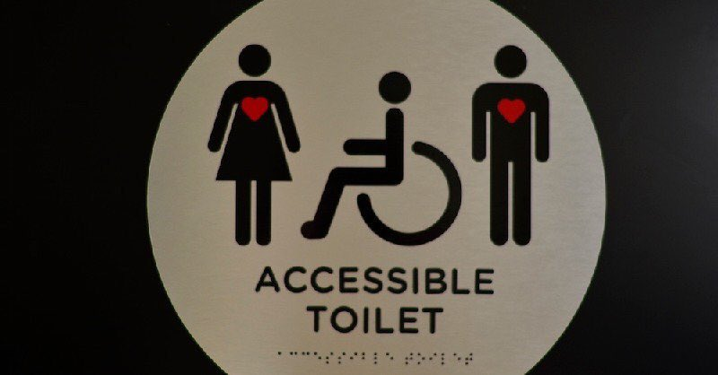 Grace's Sign As well as a person using a wheelchair, they include a standing person with a heart symbol.