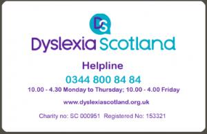dyslexia alert card 2